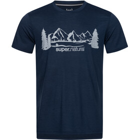 super.natural Graphic Tee Men blue iris/vapor grey range